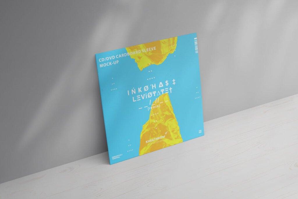 精致现代音乐唱片CD / DVDСard实物模型样机素材模型CD / DVD Сardstock Paper Sleeve Mock Ups Vol 1插图(6)