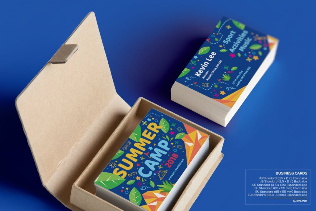 商业活动传单模板素材样机下载Kids Summer Camp Set Template WPLZAE插图(6)