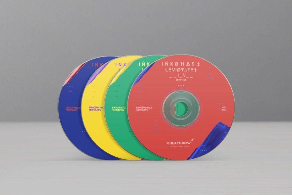 精致现代音乐唱片CD / DVDСard实物模型样机素材模型CD / DVD Сardstock Paper Sleeve Mock Ups Vol 1插图(8)