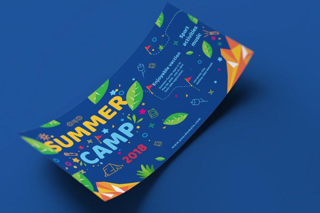 商业活动传单模板素材样机下载Kids Summer Camp Set Template WPLZAE插图(8)