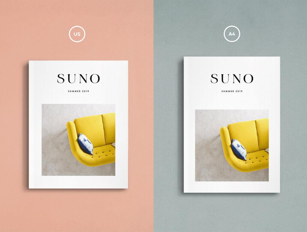 简约设计风格杂志样机工具包Suno Magazine Mockup Kit插图(6)