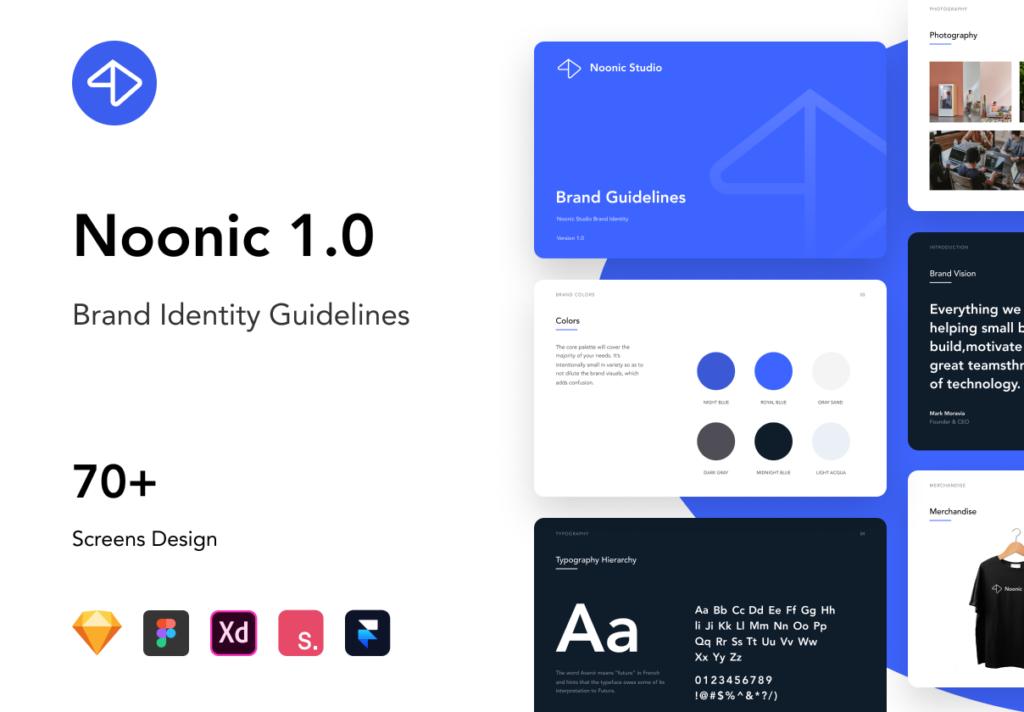 品牌书籍和风格指南演示模板素材下载Noonic – Brand Identity & Style Guide插图