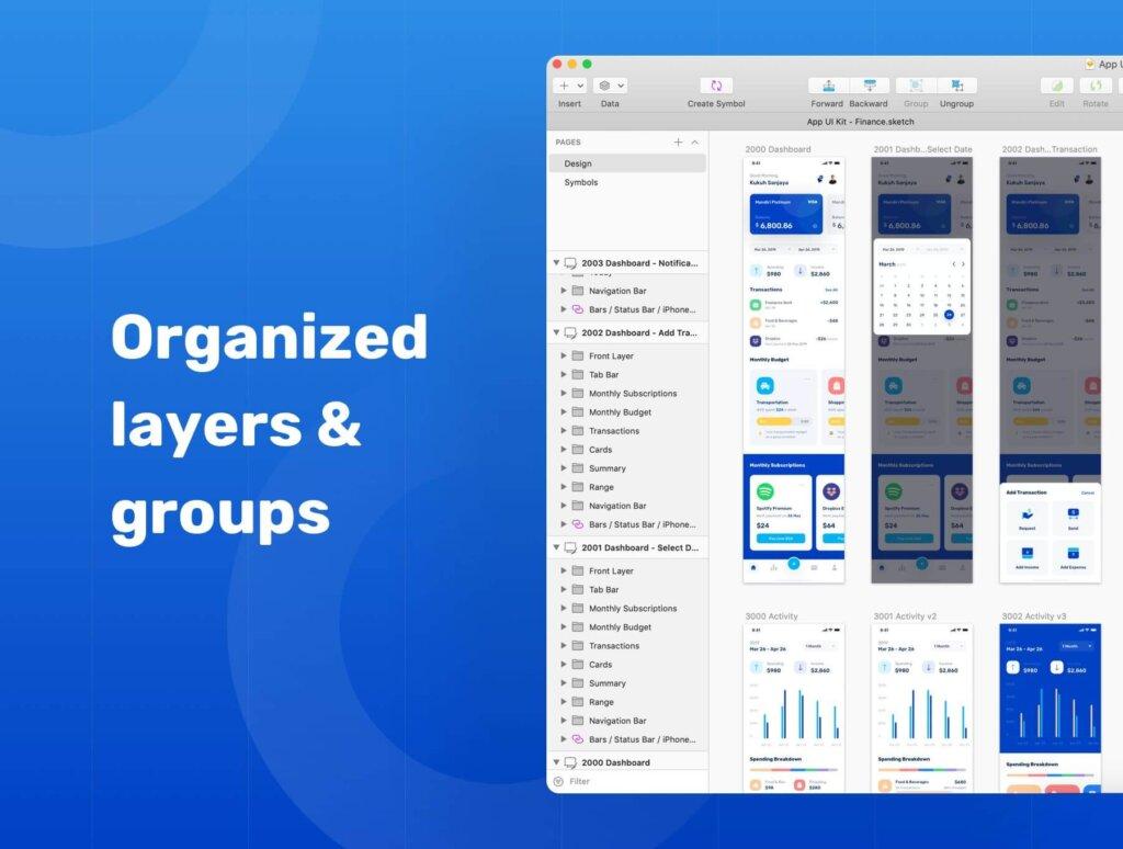 金融套装模板下载 iOS Ui app设计UI素材Banky – Finance App UI Kit插图(2)