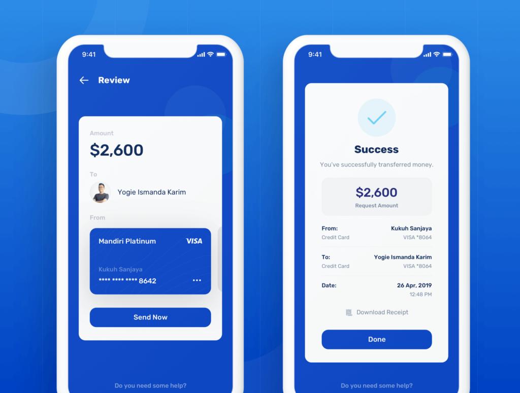 金融套装模板下载 iOS Ui app设计UI素材Banky – Finance App UI Kit插图(4)