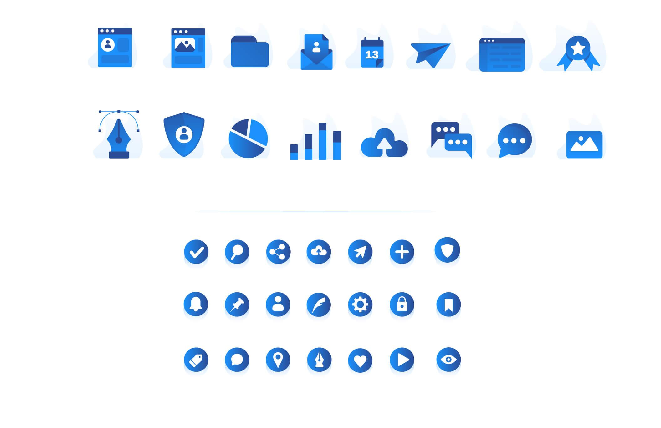 现代企业办公场景插画/移动界面素材下载Illustration Pack插图(16)