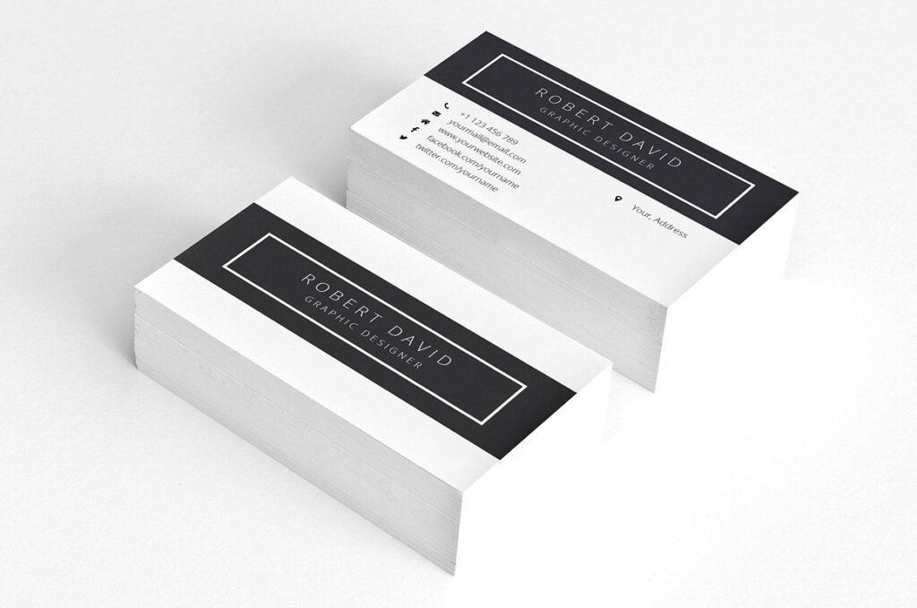 经典黑白简约设计方案简历展示模板插图(4)