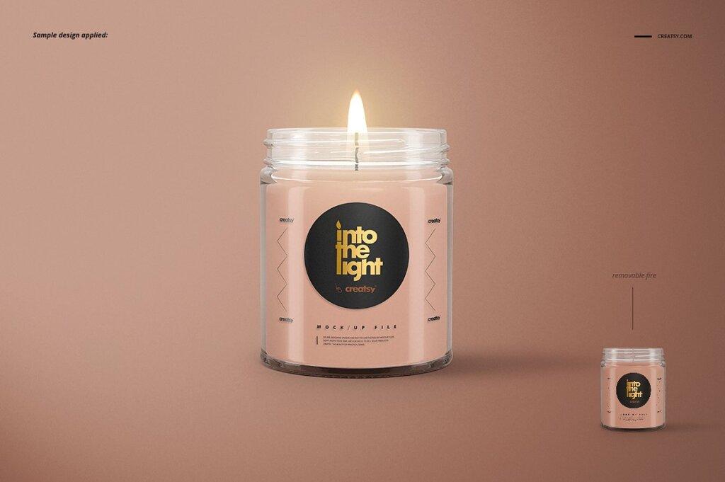 精致的蜡烛香薰玻璃杯包装设计展示样机品牌PSD智能贴图样机模版素材插图(4)