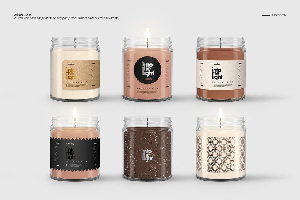 精致的蜡烛香薰玻璃杯包装设计展示样机品牌PSD智能贴图样机模版素材插图(7)
