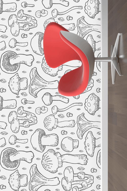 野生菌种图案纹理素材合集素材下载Mushroom handdrawn pattern插图(1)