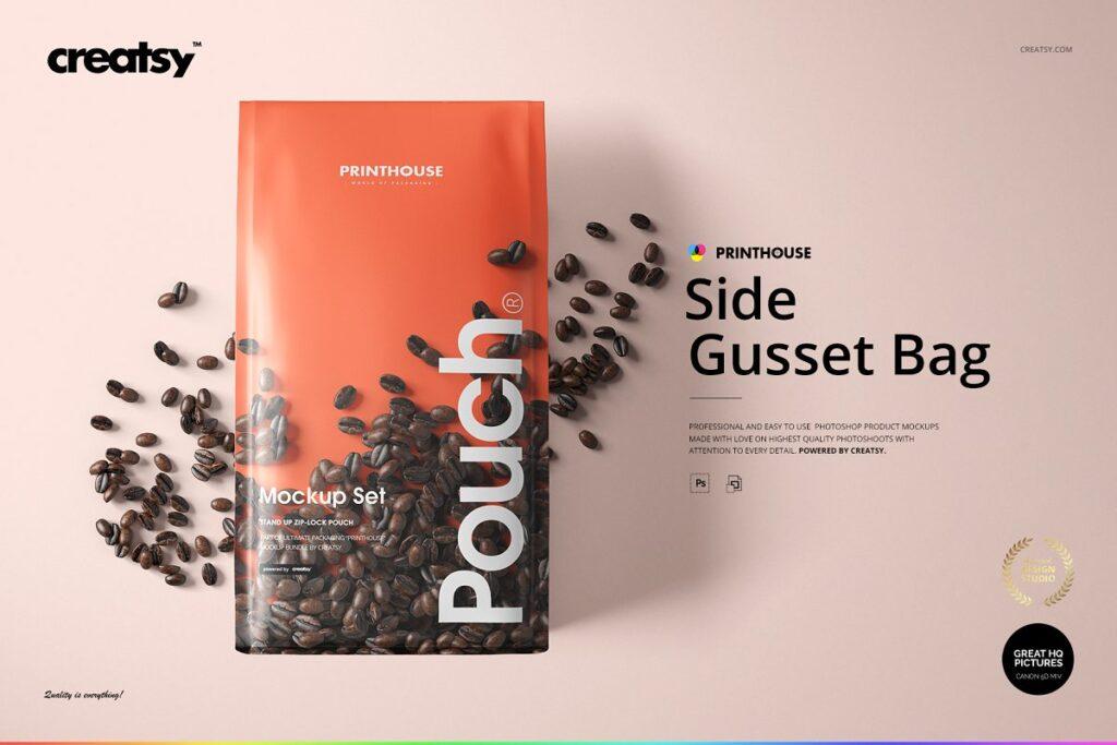 高端精品咖啡包装袋样机模板素材下载插图
