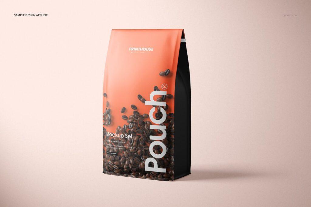 高端精品咖啡包装袋样机模板素材下载插图(4)