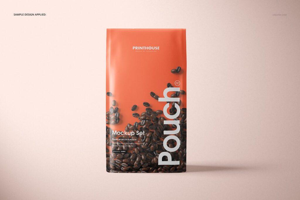 高端精品咖啡包装袋样机模板素材下载插图(5)