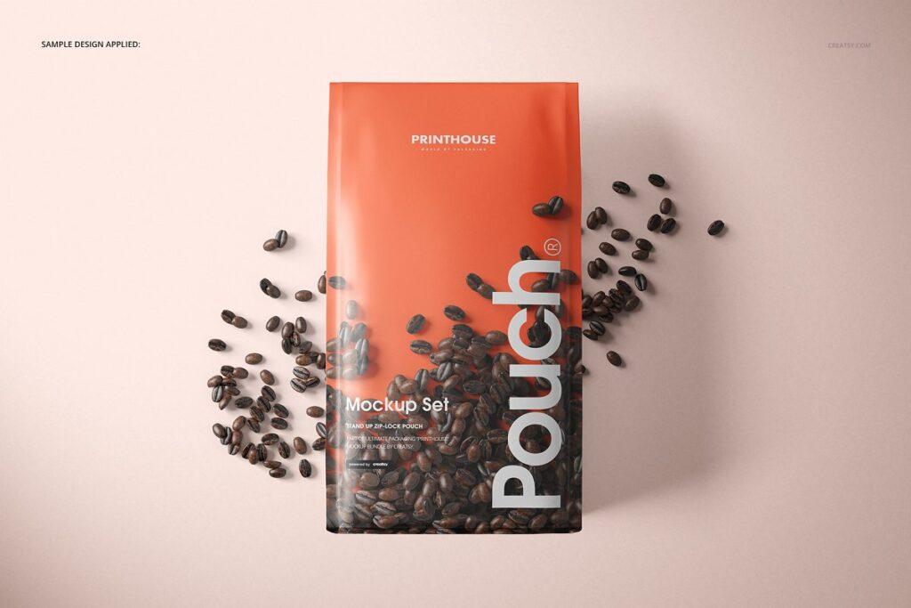 高端精品咖啡包装袋样机模板素材下载插图(6)