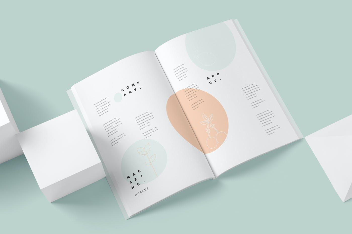 企业手册杂志模型集素材模版下载ZB9YQ2M插图(5)