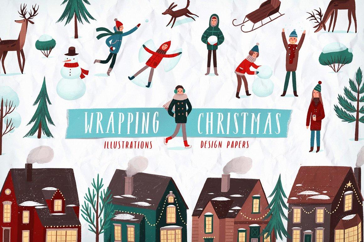 圣诞节品牌包装装饰图案纹理素材下载插图
