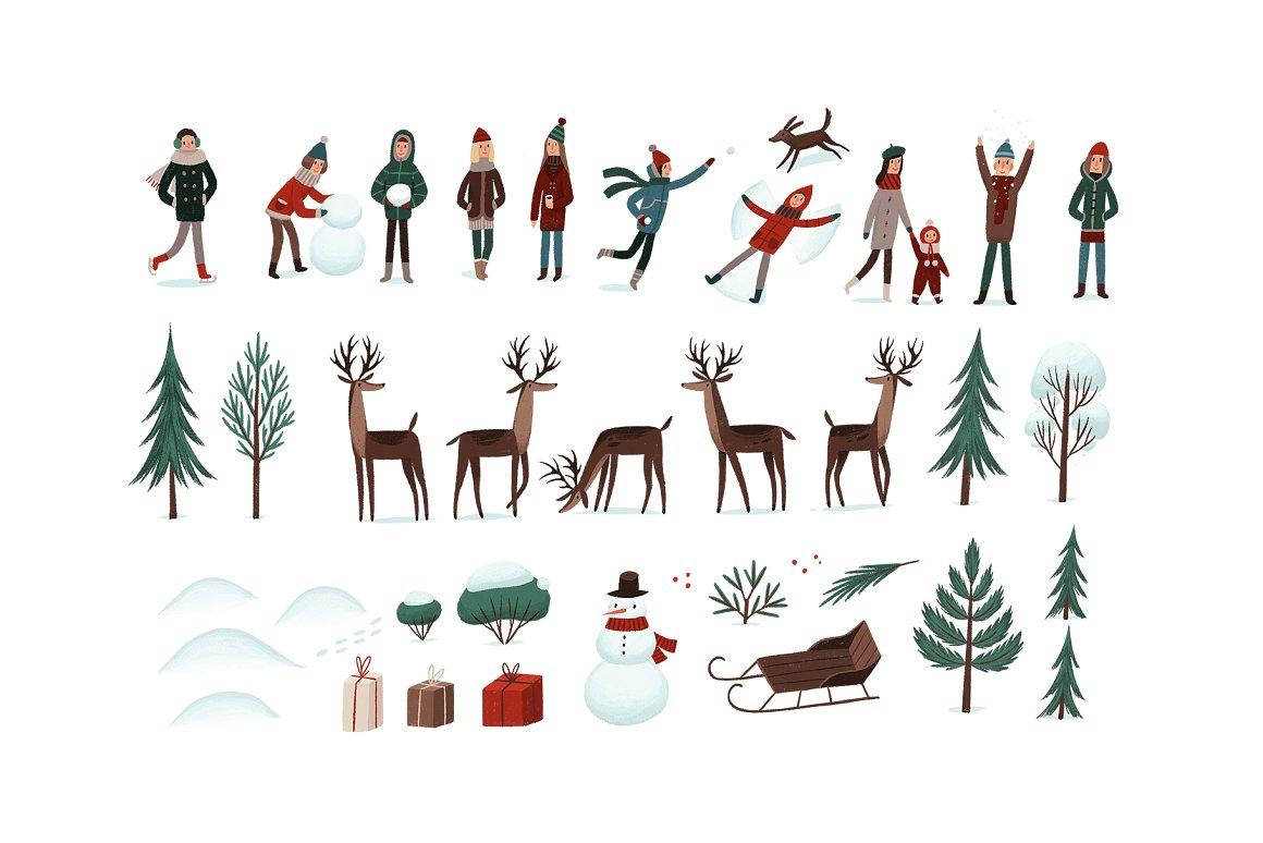 圣诞节品牌包装装饰图案纹理素材下载插图(3)
