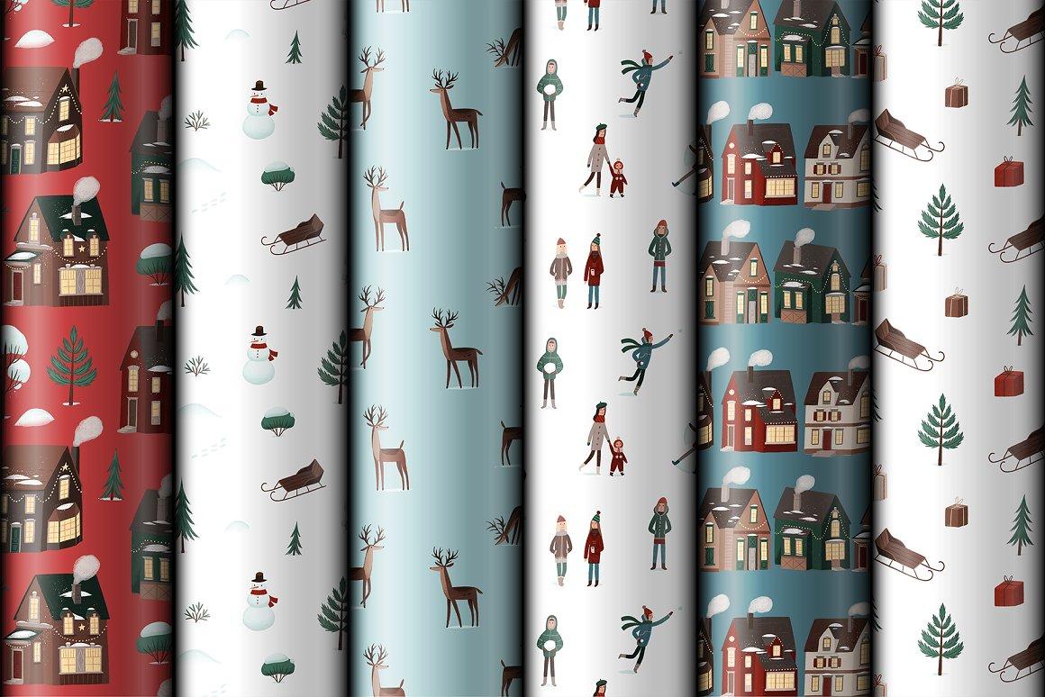 圣诞节品牌包装装饰图案纹理素材下载插图(4)
