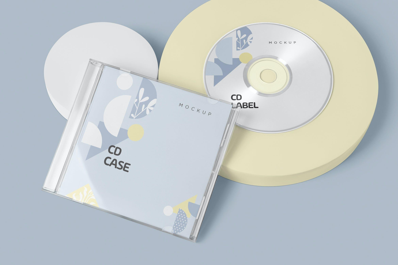 古典音乐CD标签和包装盒样机模版素材9GZQ7EC插图