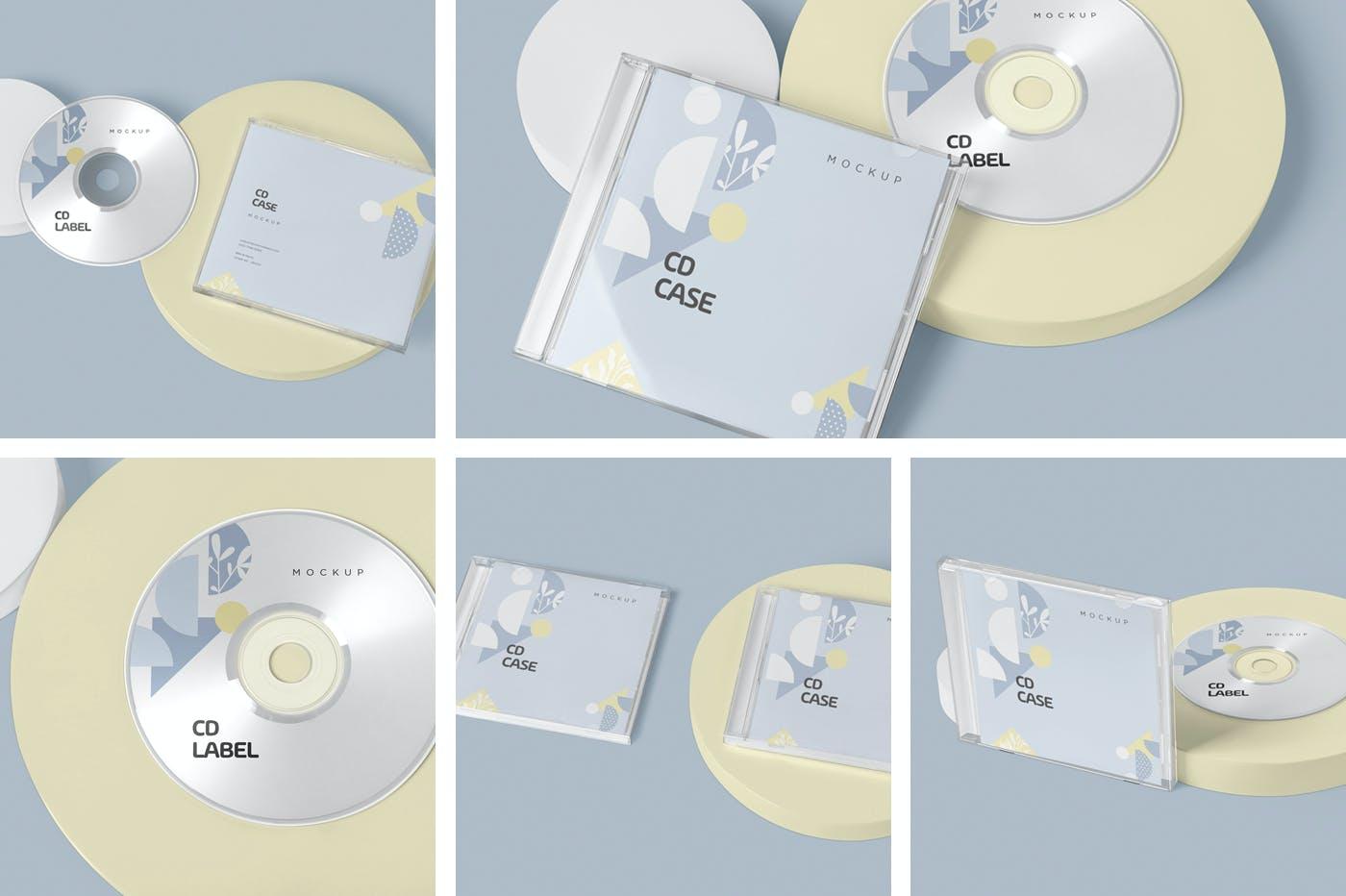 古典音乐CD标签和包装盒样机模版素材9GZQ7EC插图(1)