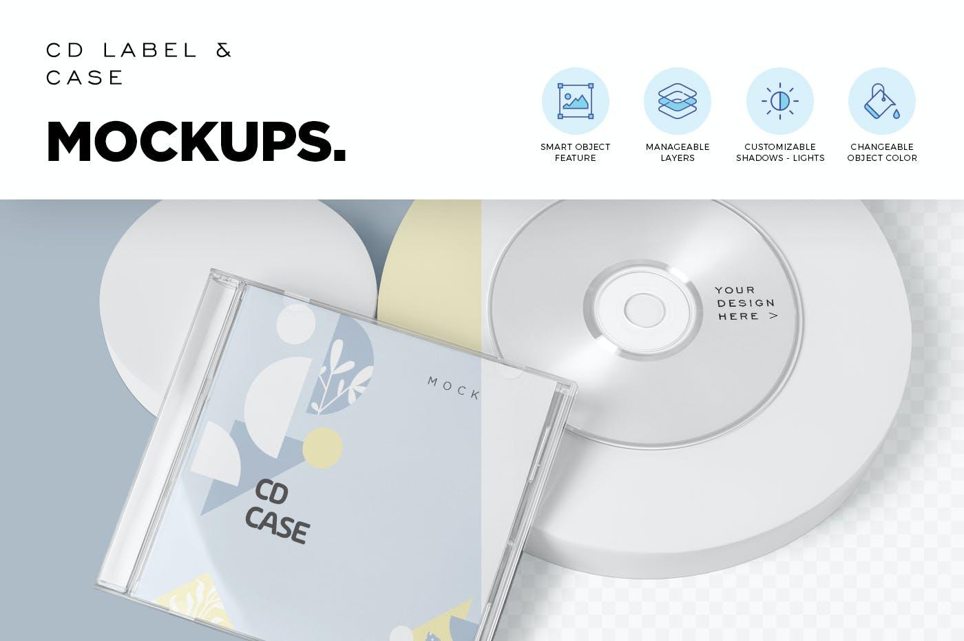 古典音乐CD标签和包装盒样机模版素材9GZQ7EC插图(2)