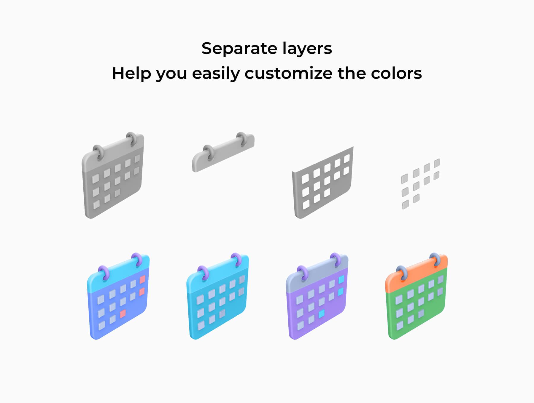 3D电商购物场景类矢量素材模版插图(3)