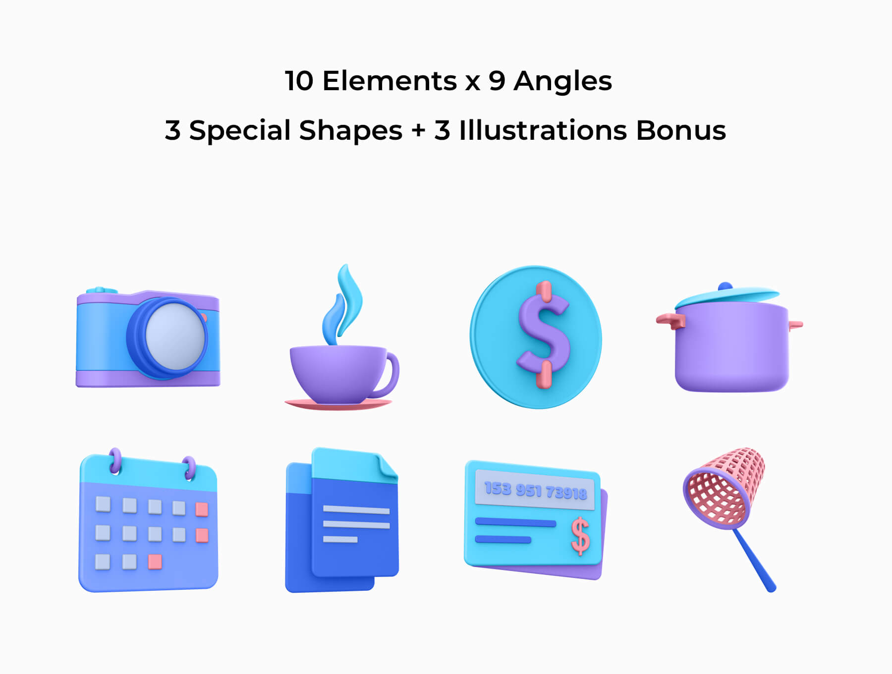 3D电商购物场景类矢量素材模版插图(2)