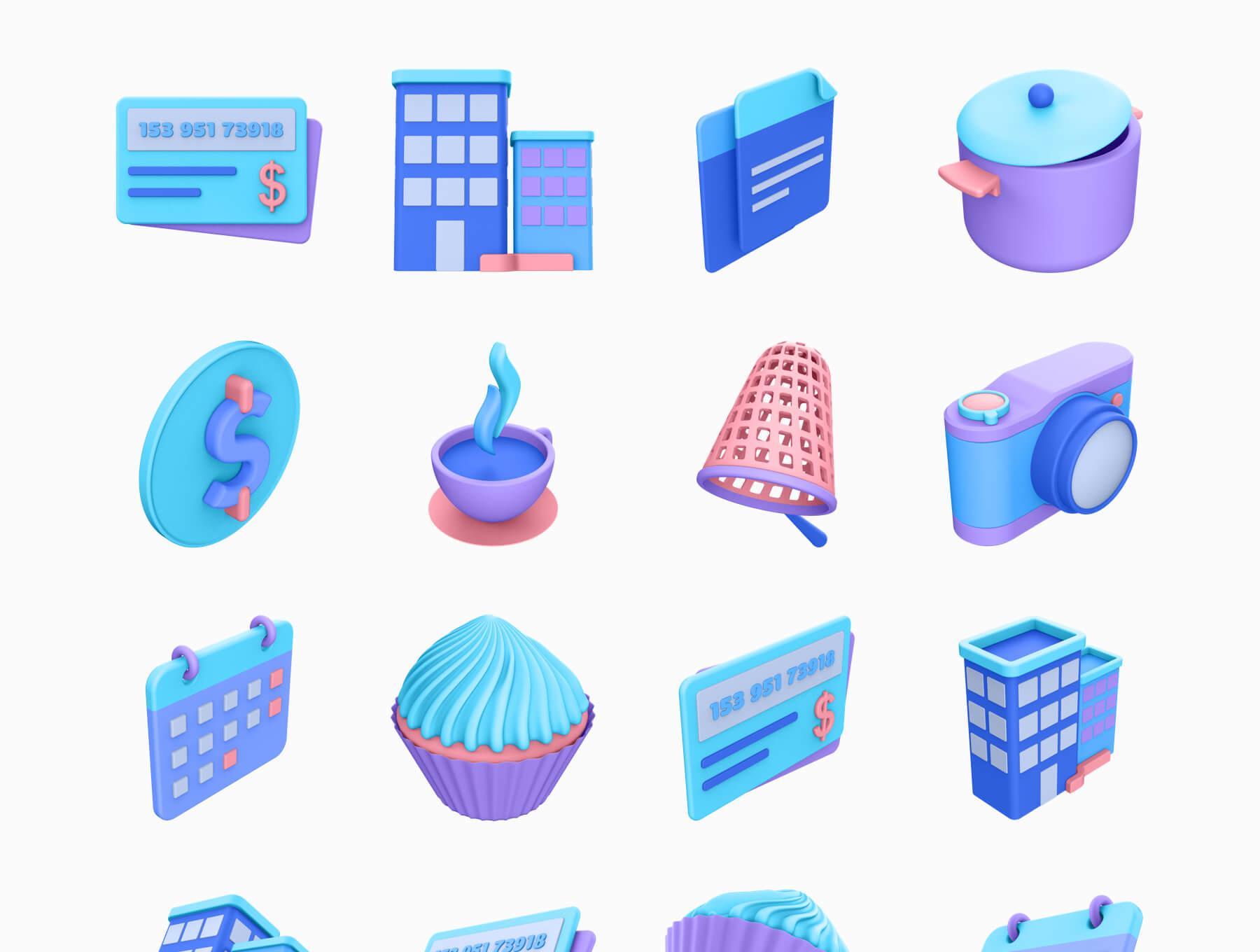 3D电商购物场景类矢量素材模版插图(6)