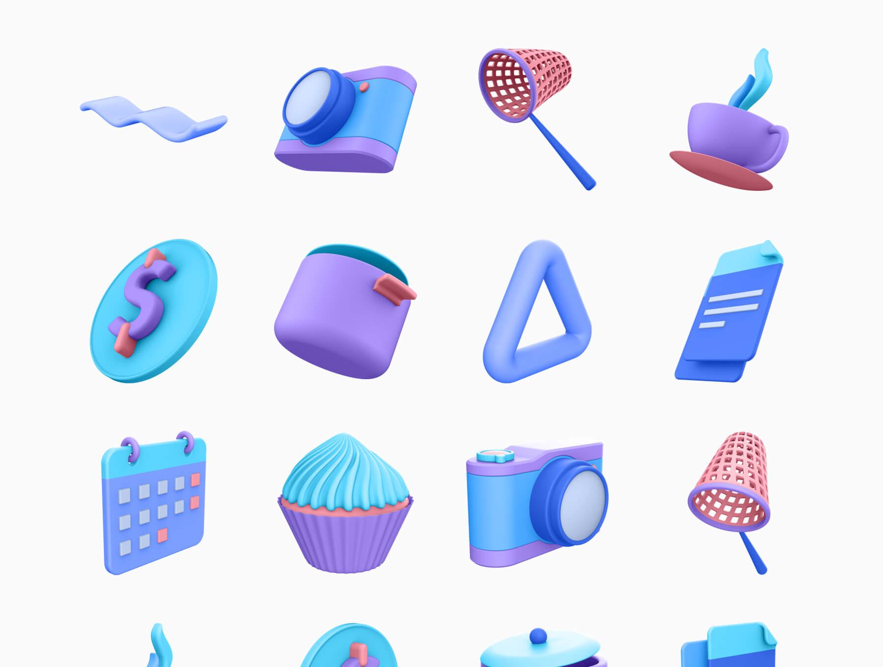 3D电商购物场景类矢量素材模版插图(7)