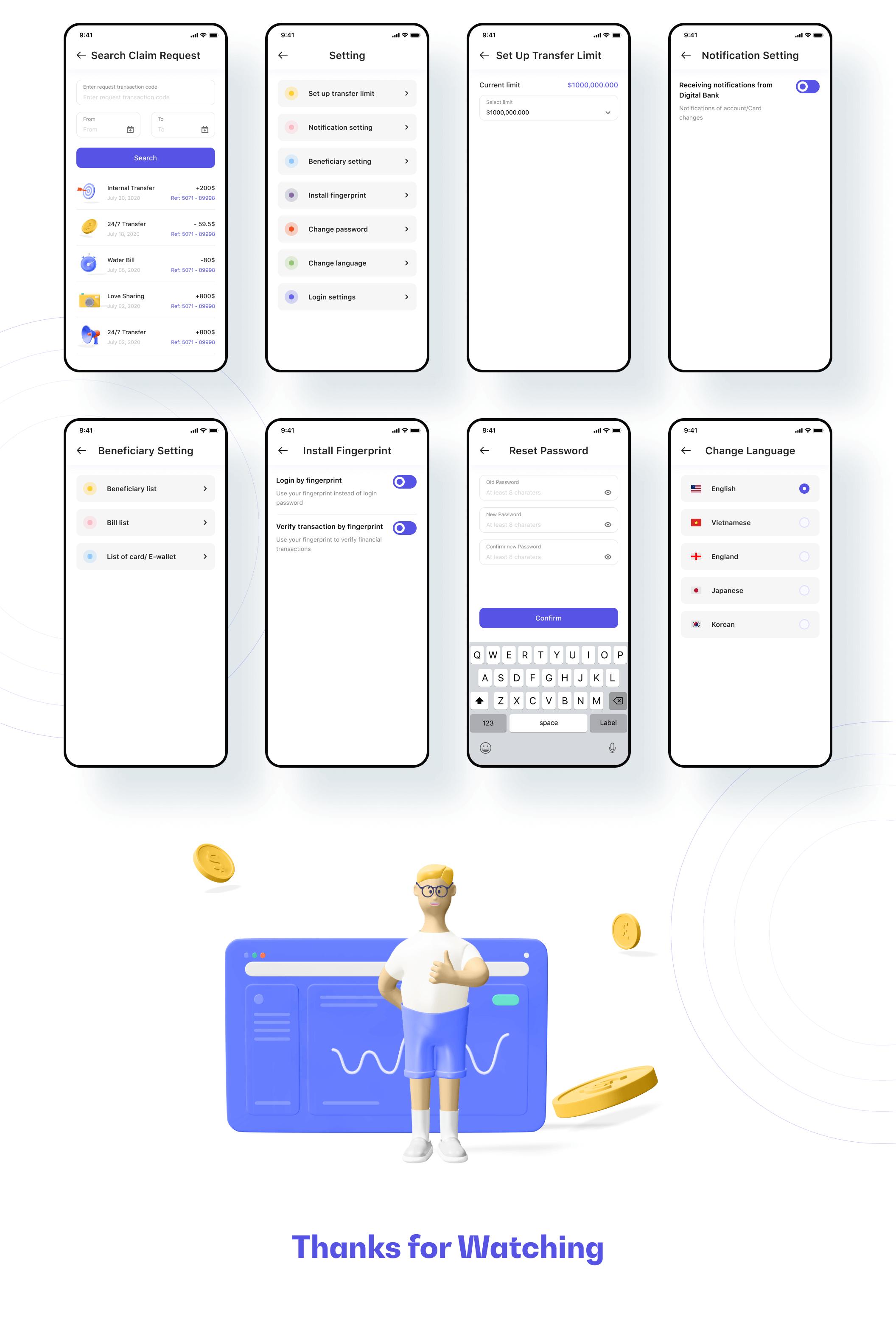 智能银行UI套件 财务管理解决方案 模版素材插图(7)