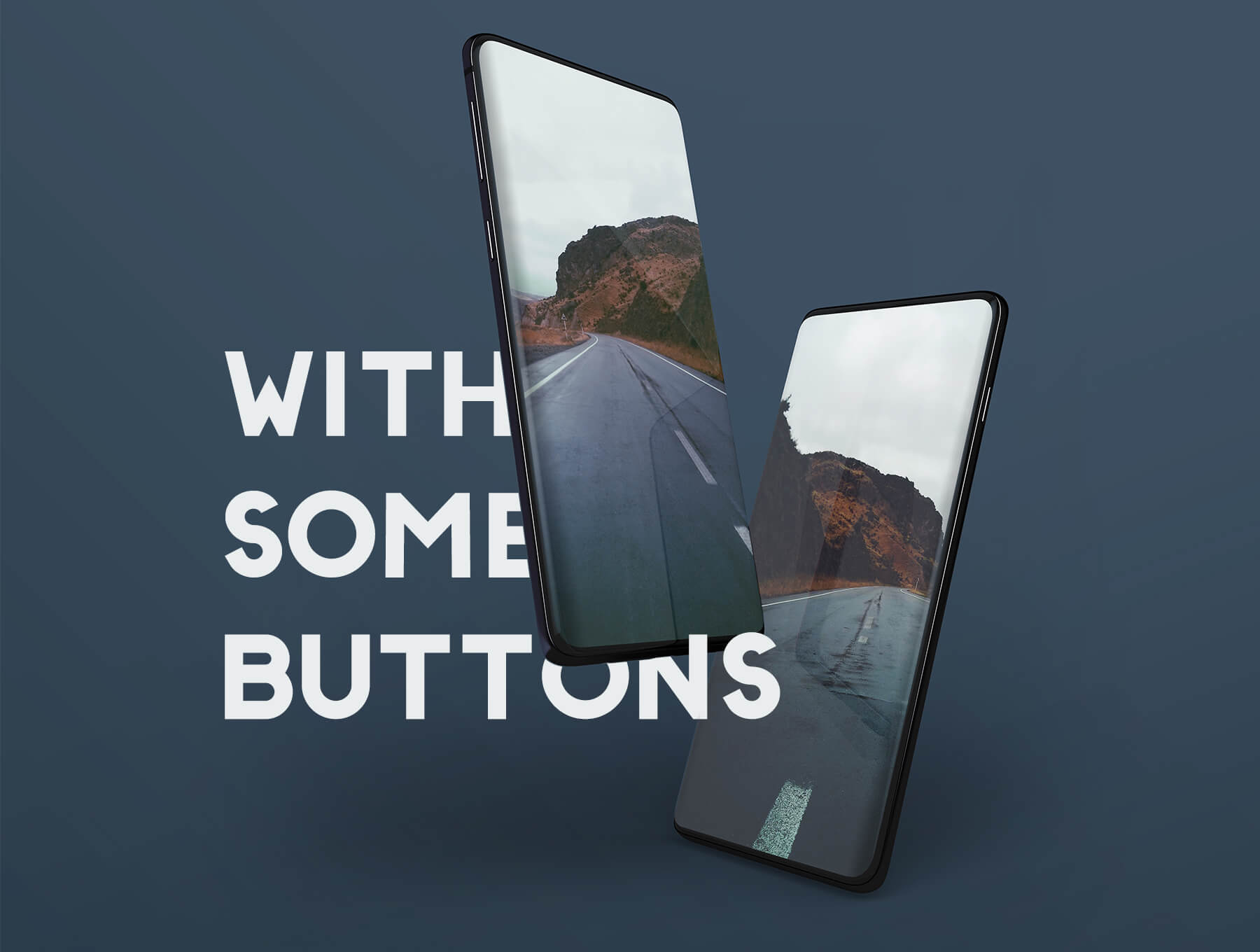 三星Galaxy S10最小电话样机套件模版素材Minimal Phones Mockup Kit插图(1)