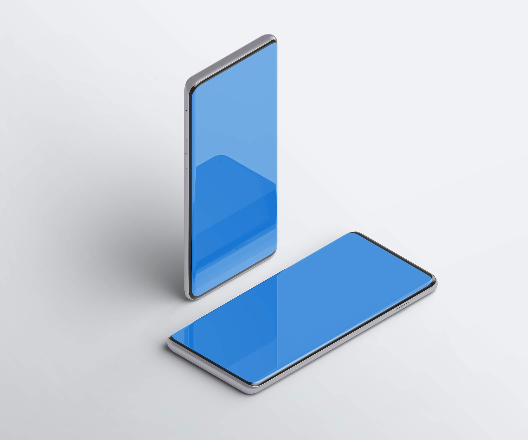 三星Galaxy S10最小电话样机套件模版素材Minimal Phones Mockup Kit插图(8)
