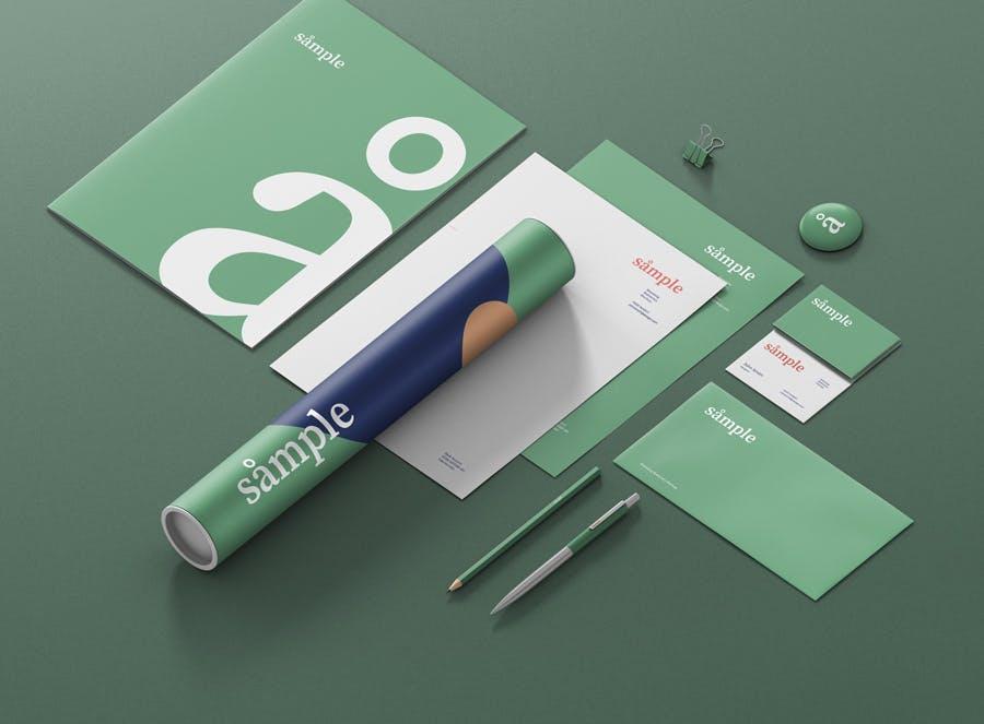 文具品牌样机创造者样机模版素材下载DE9TAT插图(1)