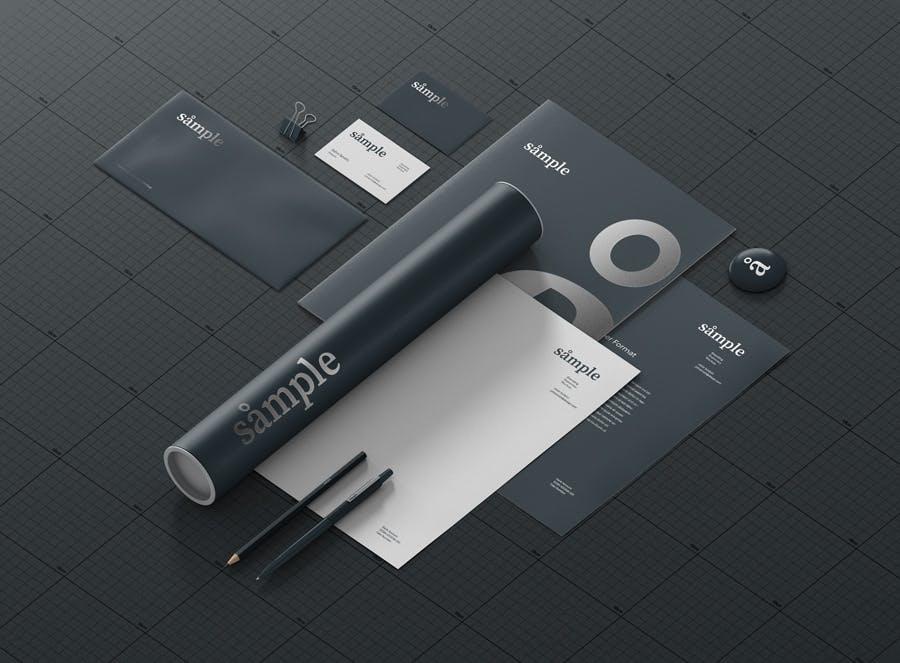 文具品牌样机创造者样机模版素材下载DE9TAT插图(4)