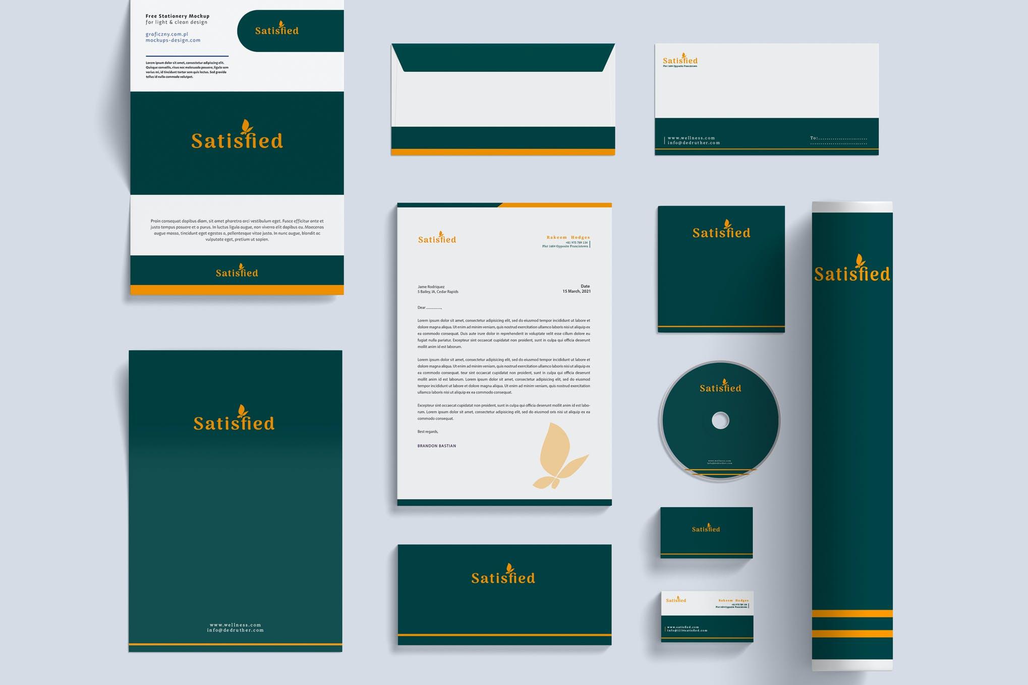 酒店品牌标识和文具包样机模版素材UYY5SK5插图