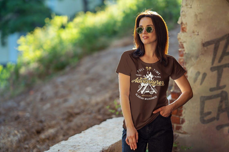 女性T恤样机文艺素材模版下载5FVTMF8插图(3)