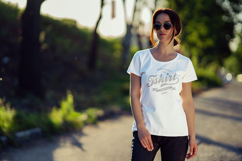 女性T恤样机文艺素材模版下载5FVTMF8插图(6)