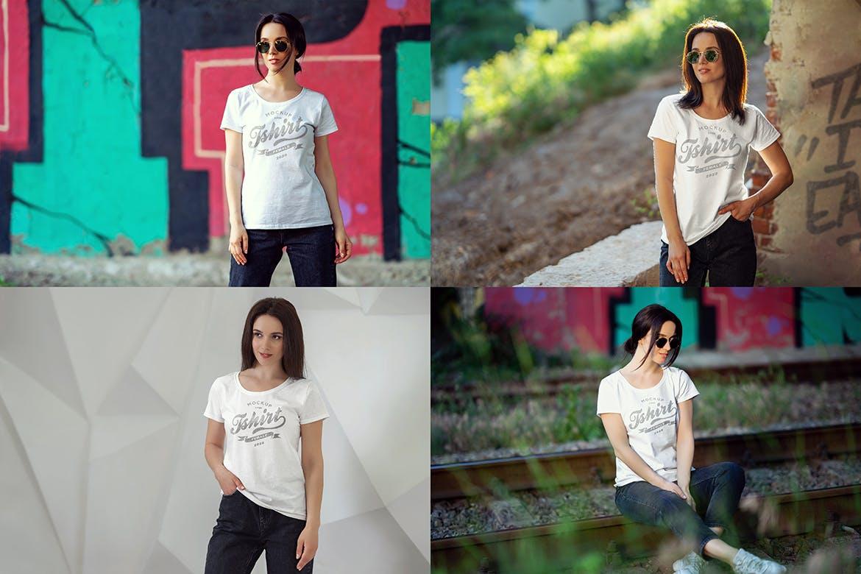 女性T恤样机文艺素材模版下载5FVTMF8插图(5)