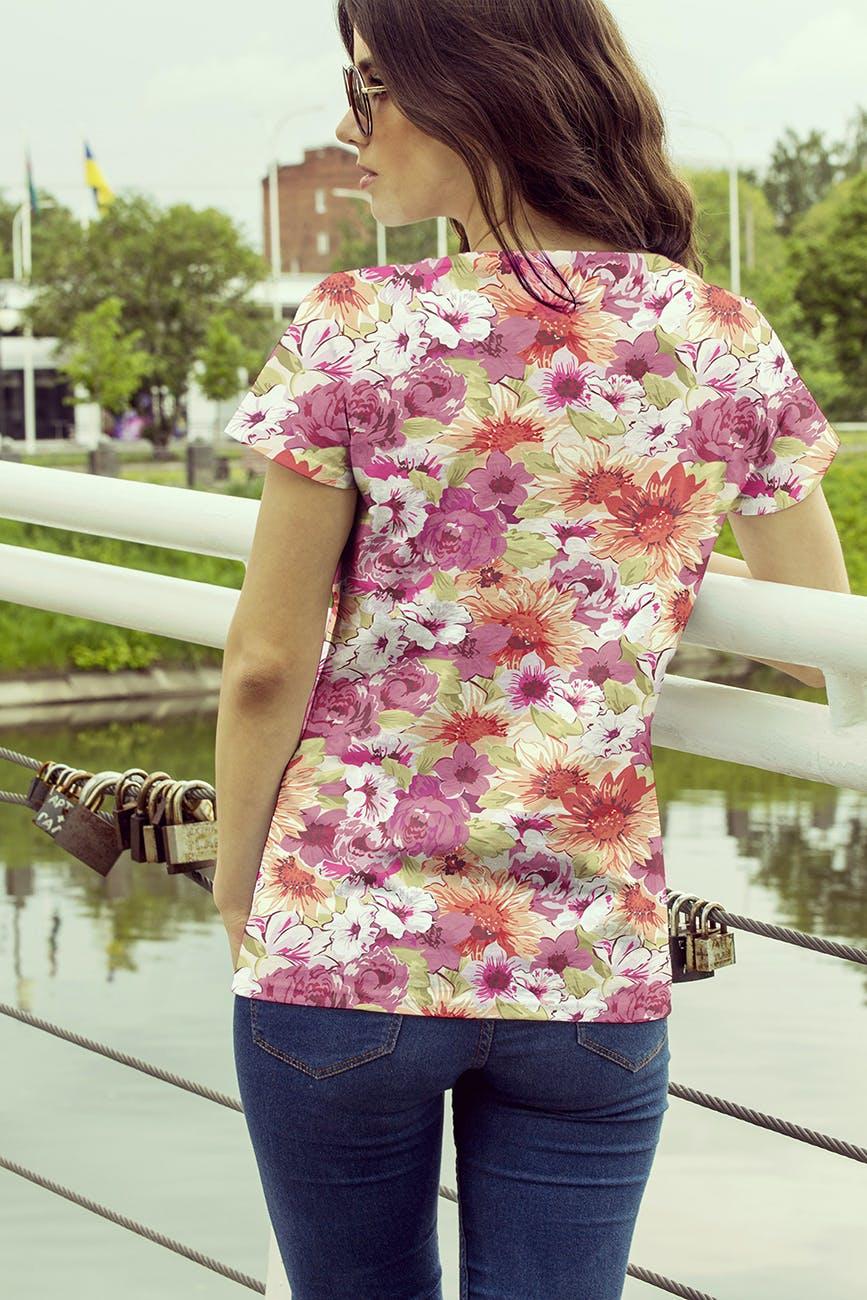 女性T恤样机模版素材下载D7NBRN插图(7)