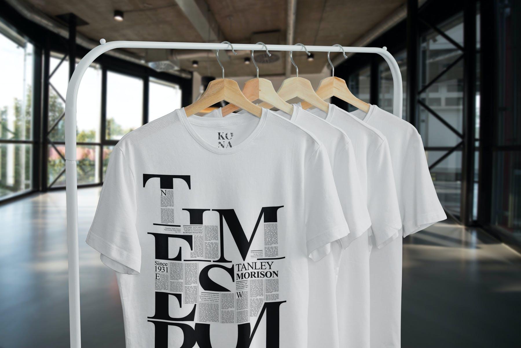 简约衣架T恤样机模型素材下载EG7YRL5插图(3)