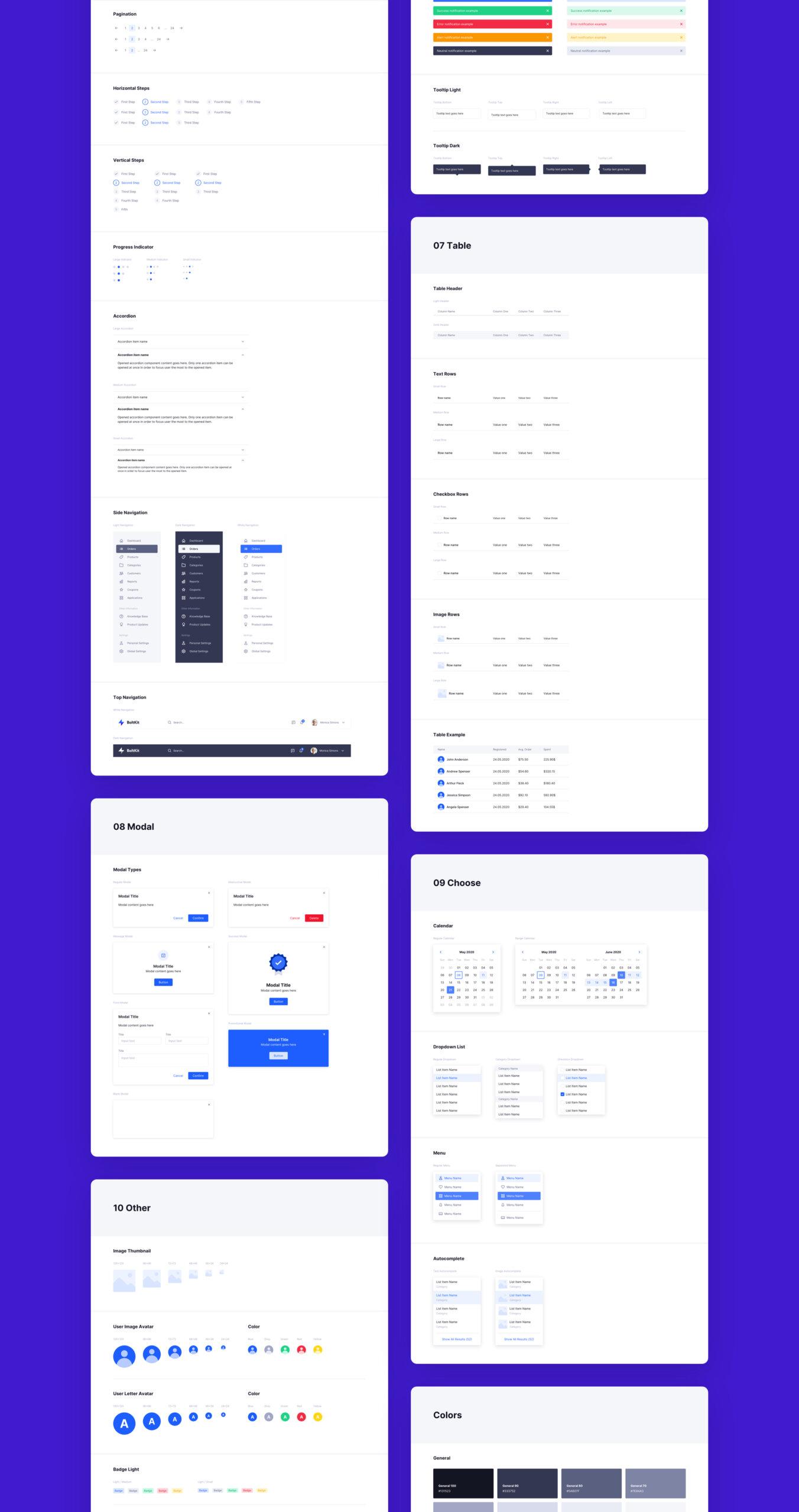后台管理系统模版素材/中台管理系统模版素材Bolt UI Kit & Design Library插图(6)
