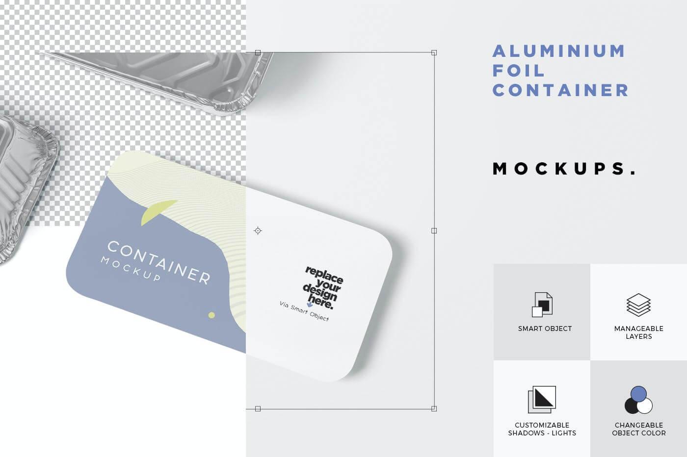 铝箔包装食品盒样机52Q4737插图(2)