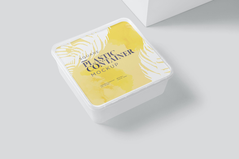 方形透明塑料容器模型样机素材6TQGY3E插图