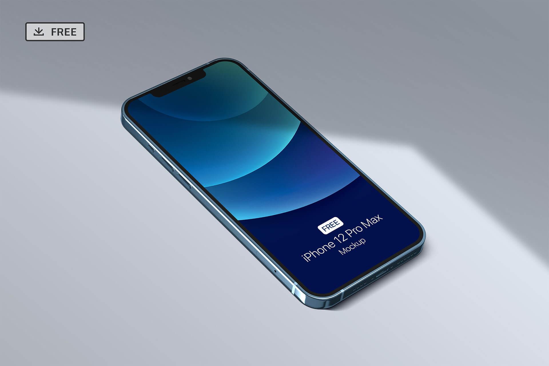 苹果手机12样机精致模版手机多角度展示模版素材iPhone 12 Pro Max Mockup V.01插图