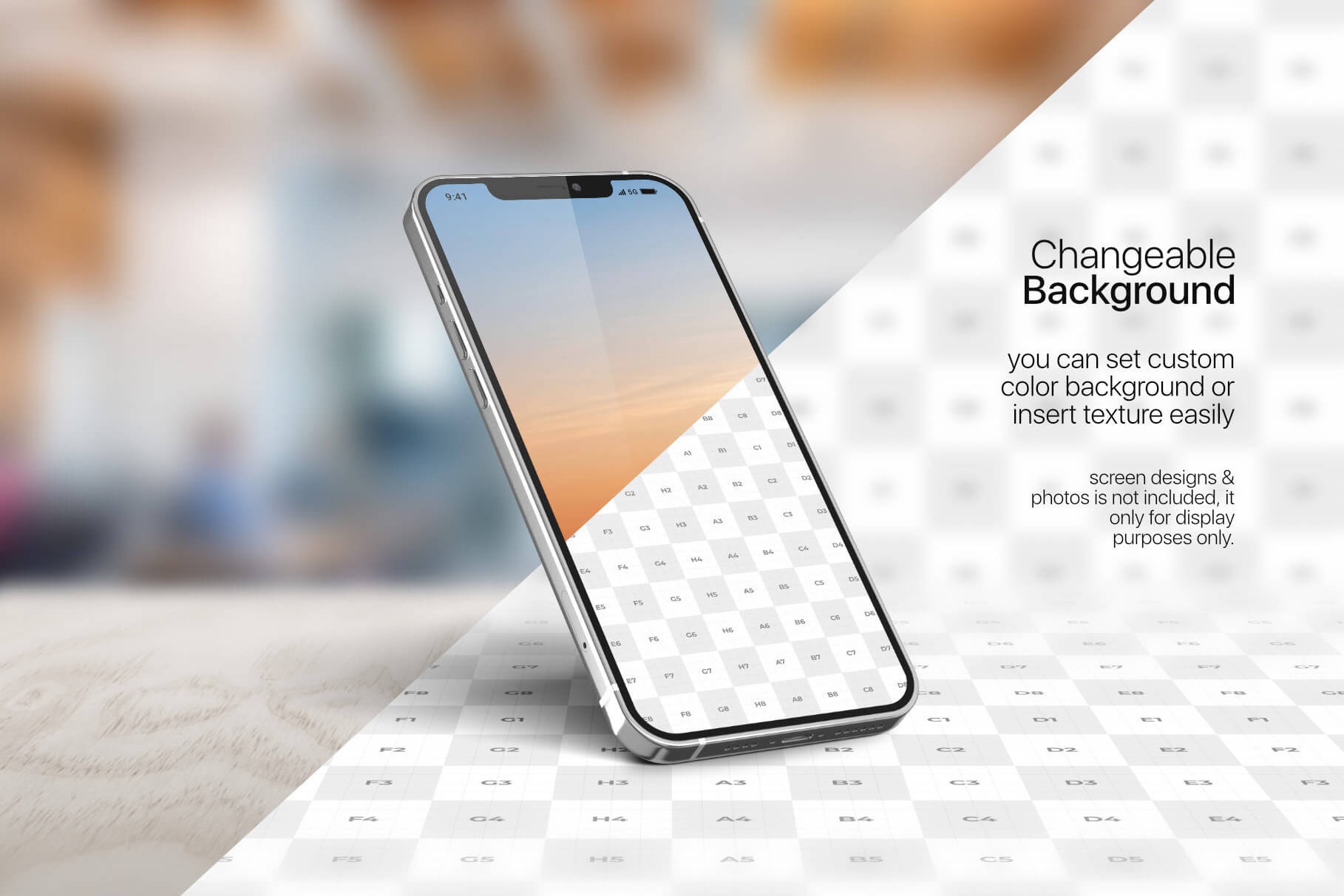 苹果手机12样机精致模版手机多角度展示模版素材iPhone 12 Pro Max Mockup V.01插图(3)