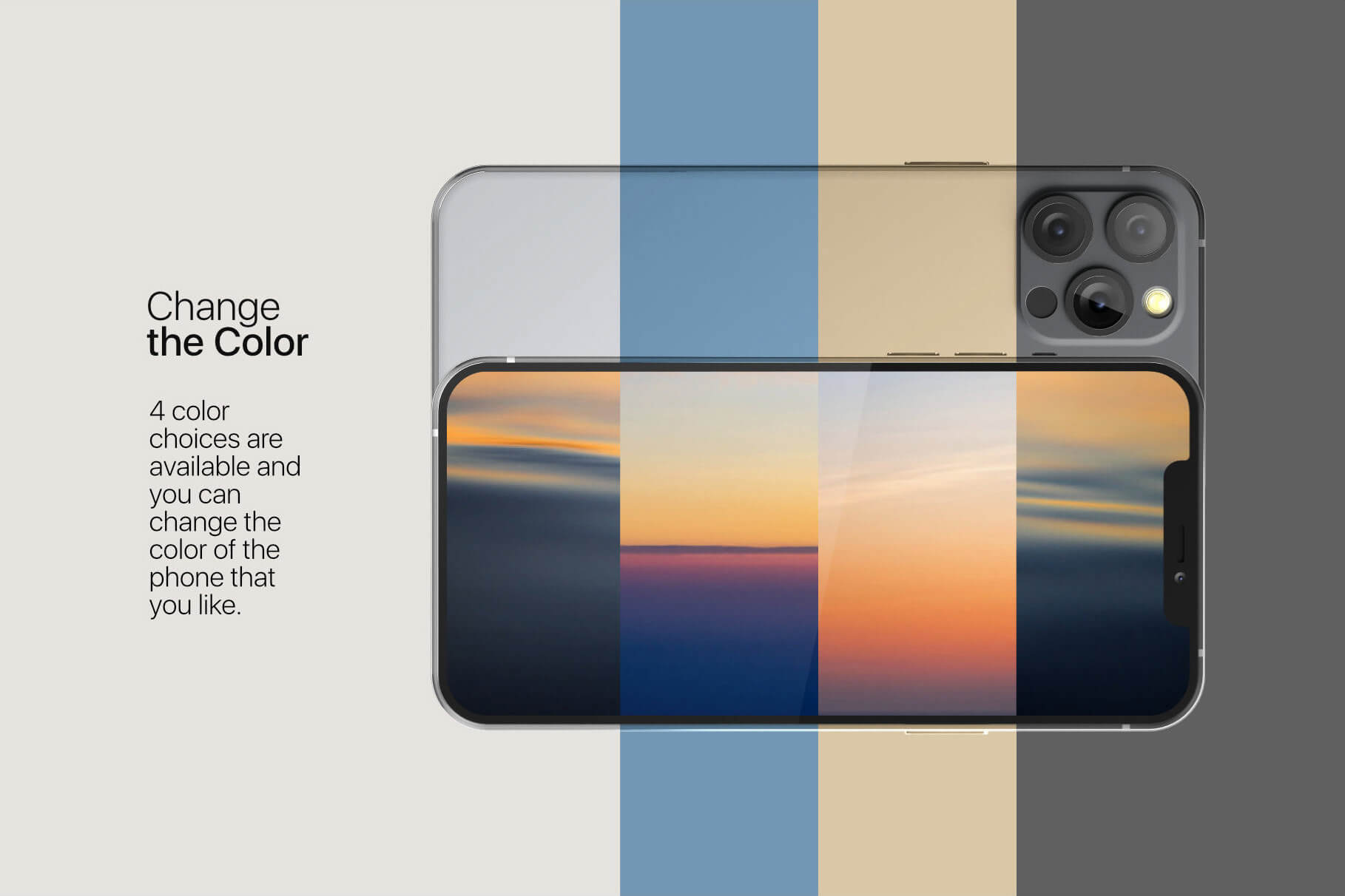 苹果手机12样机精致模版手机多角度展示模版素材iPhone 12 Pro Max Mockup V.01插图(4)